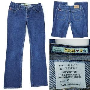 Mudd 100% Cotton Straight Boot Blue Jeans 9 30x31